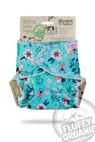 Ladybirds in the Meadow - Maxi Night Nappy (Snaps)