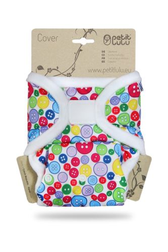 Sewing Buttons - One Size Prefold Cover (Hook & Loop)