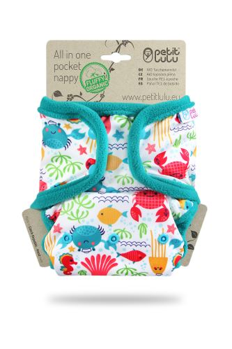 Lagoon - All In One Pocket Nappy (Snaps)