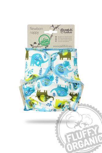 Second quality Little Elephants - Newborn Nappy - faulty print