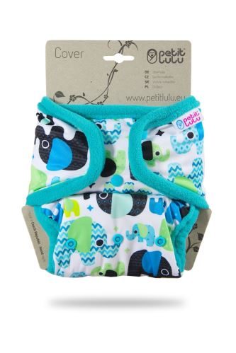Baby Elephant (blue) - One Size Cover (Snaps)