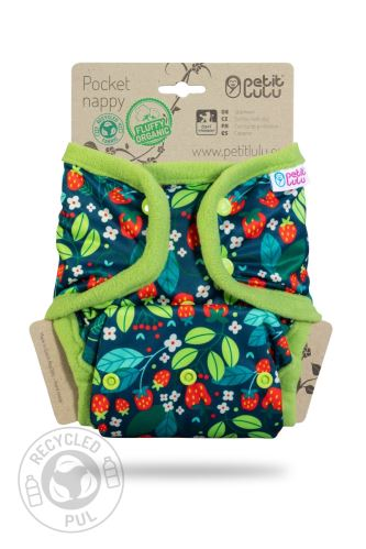 Second quality Wild Strawberries - Pocket Nappy (Snaps) - stained inside