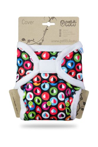 Colorful Hearts - One Size Prefold Cover (Hook & Loop)