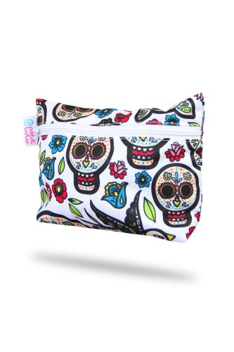 Small Wetbag - Mexican Skulls (on white)